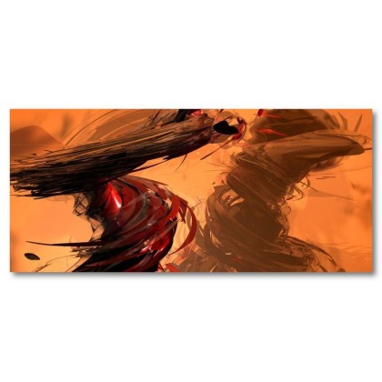 Αφίσα (αφηρημένο, πολύχρωμο, σχήματα, γραμμές, χρώματα, καταιγίδες)
